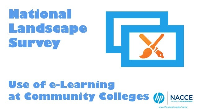 National Landscape Survey Use of e-Learning at Community Colleges A publication of