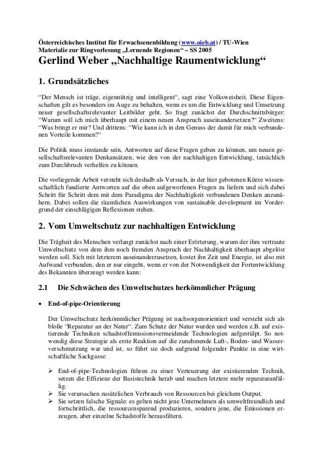 """Österreichisches Institut für Erwachsenenbildung (www.oieb.at) / TU-Wien Materialie zur Ringvorlesung """"Lernende Regionen"""" ..."""