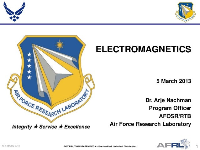 Nachman - Electromagnetics - Spring Review 2013