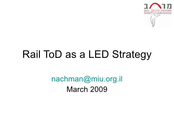 Nachman Shelef Tod Conference 2009
