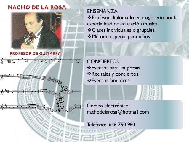 ENSEÑANZA Profesor diplomado en magisterio por la especialidad de educación musical. Clases individuales o grupales. Mé...