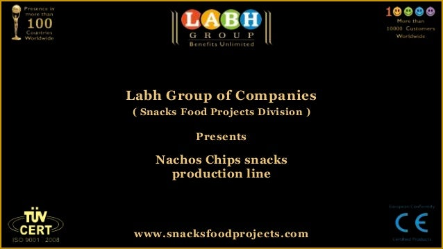 Nachos chips snacks production line