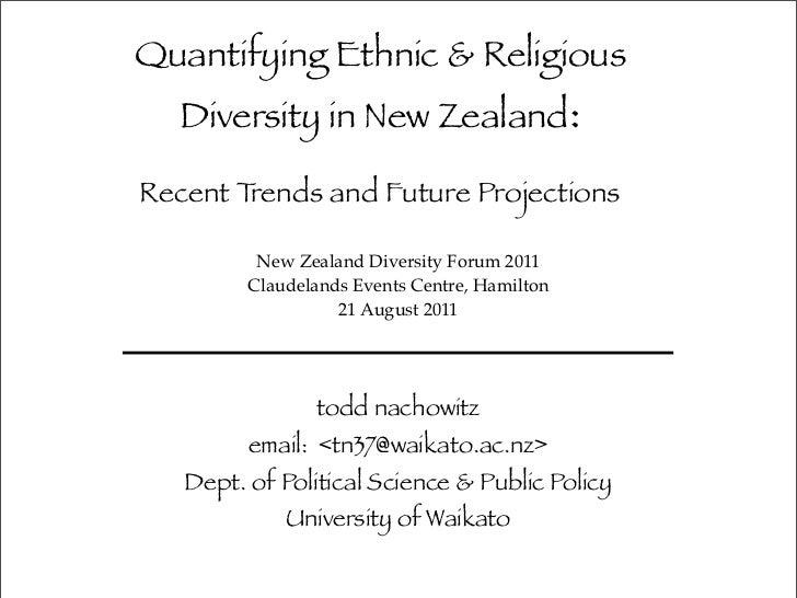 Quantifying Ethnic Religious Diversity