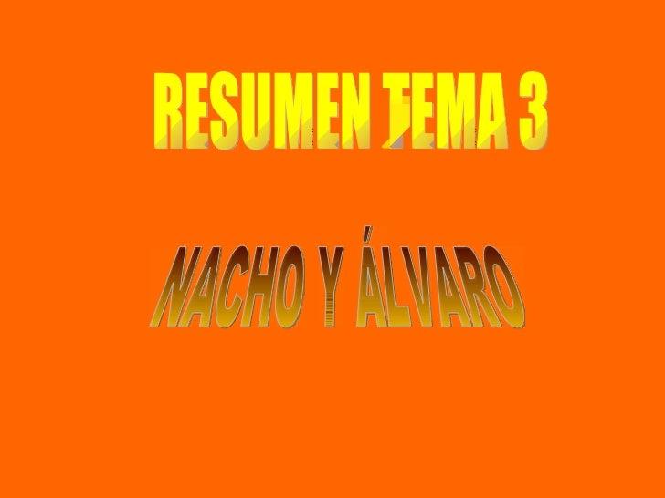 RESUMEN TEMA 3 NACHO Y ÁLVARO