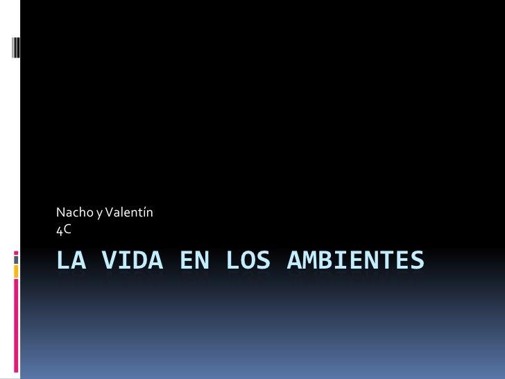 La vida en los ambientes<br />Nacho y Valentín<br />4C<br />