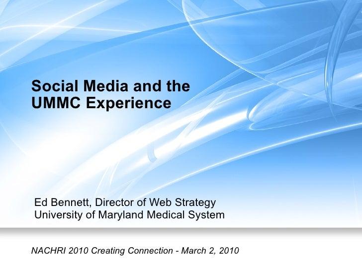 Hospitals and Social Media - NACHRI