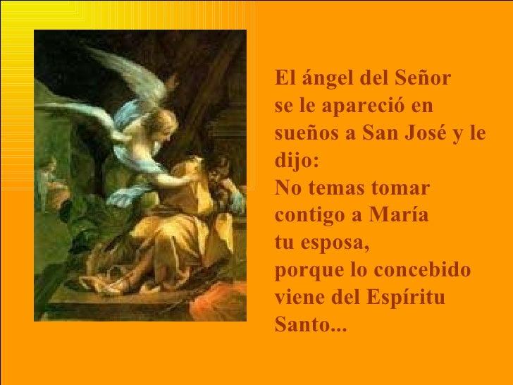 Resultado de imagen de UN ANGEL SE APARECIÓ EN SUEÑOS A SAN JOSE