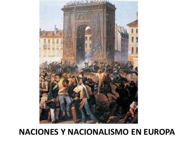 NACIONES Y NACIONALISMO EN EUROPA