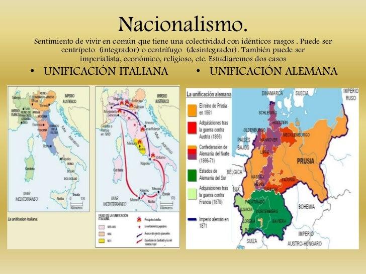 Nacionalismo.Sentimiento de vivir en común que tiene una colectividad con idénticos rasgos . Puede ser        centrípeto (...