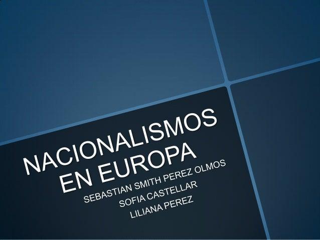 Nacionalismos en europa