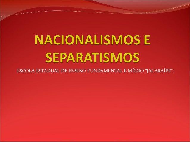 """ESCOLA ESTADUAL DE ENSINO FUNDAMENTAL E MÉDIO """"JACARAÍPE""""."""