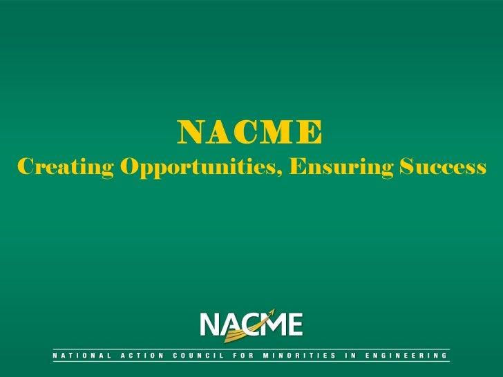 Nacme powerpoint