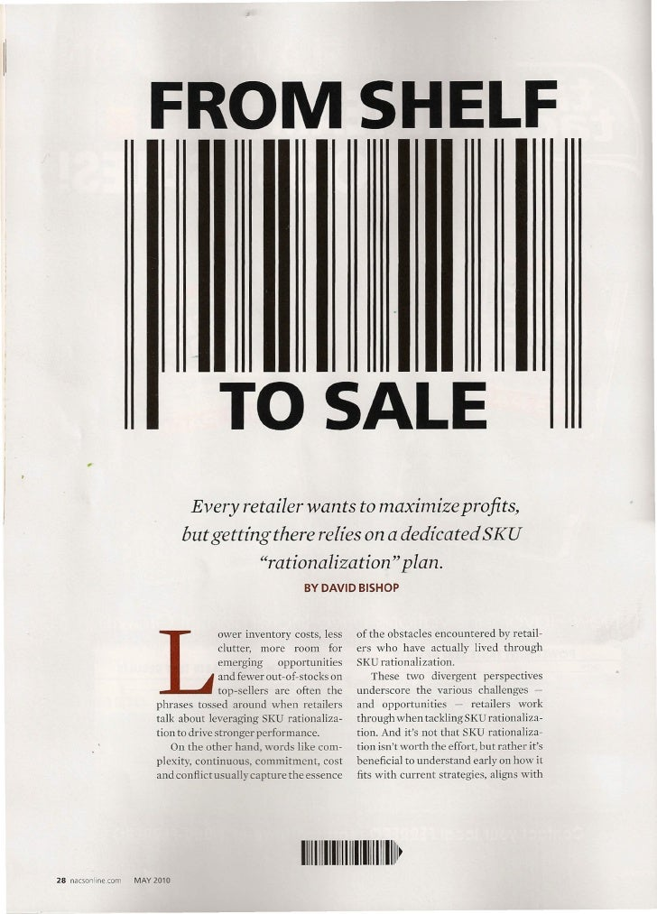 From Shelf to Sale, NACS, May 2010