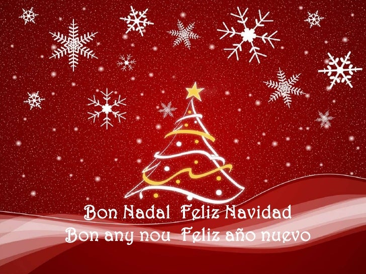 Bon Nadal  FelizNavidad<br />Bon any nou  Felizañonuevo<br />