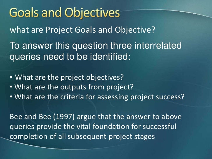 difference between goals and objectives pdf