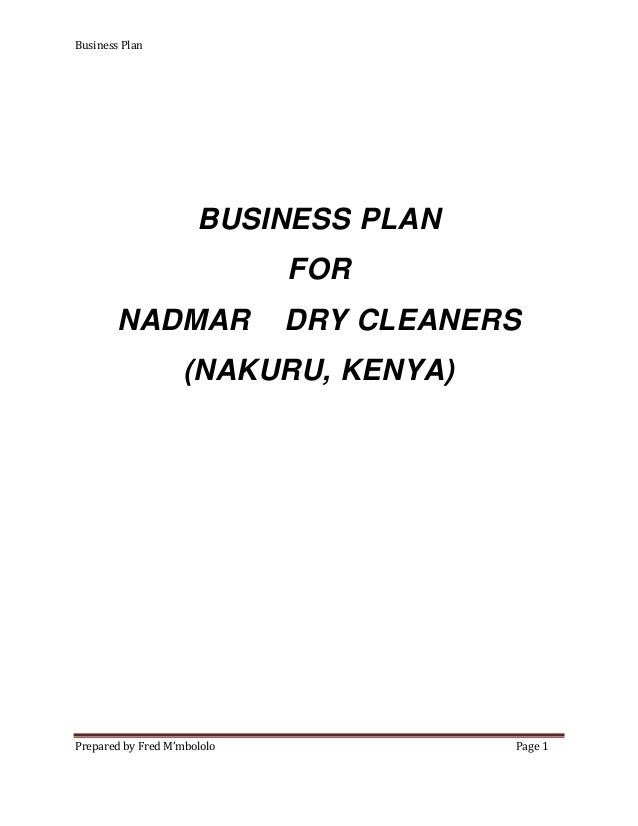 Where can I find a business plan for any dry cleaning services?