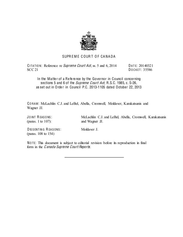 Supreme Court of Canada rejects Harper judicial appointee Nadon