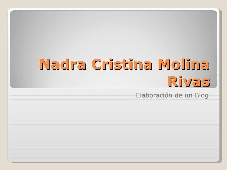 Nadra Cristina Molina Rivas Elaboración de un Blog