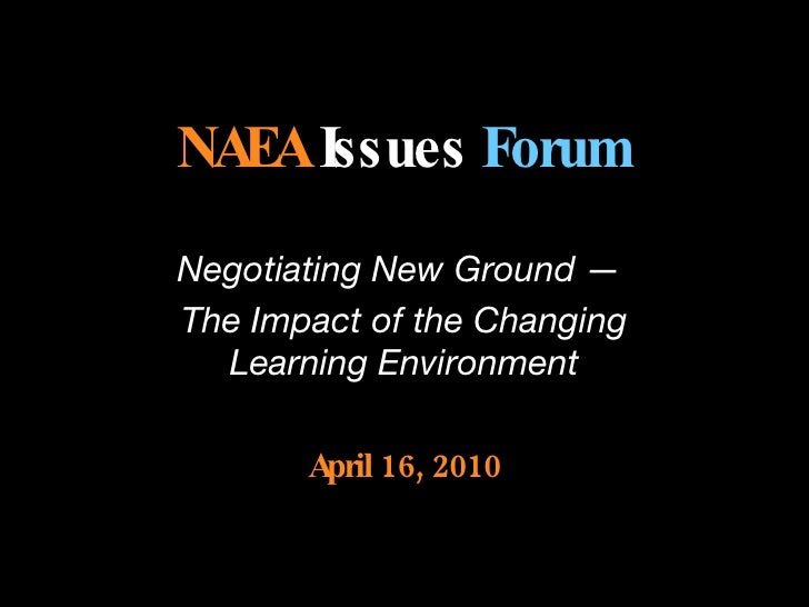 NAEA Issues Forum #2