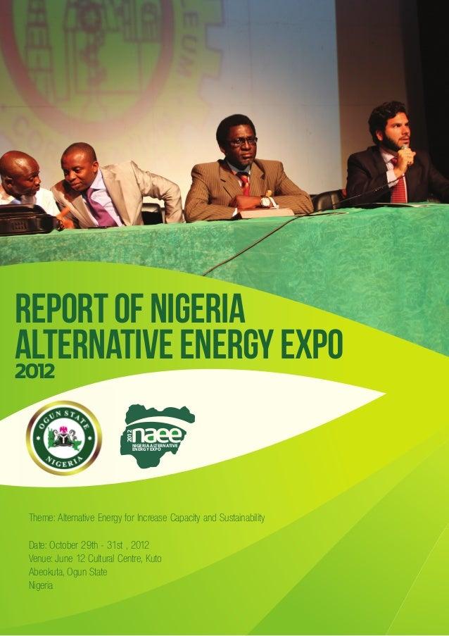 NAEE 2012 report