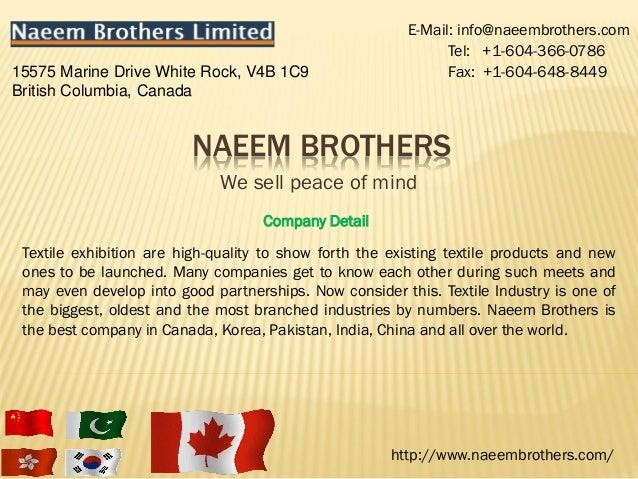 E-Mail: info@naeembrothers.com                                                               Tel: +1-604-366-078615575 Mar...
