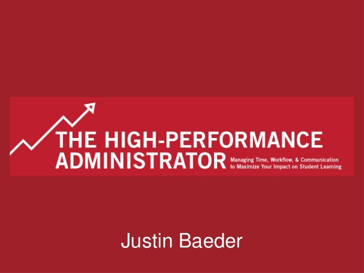 The High-Performance Administrator - April 2011