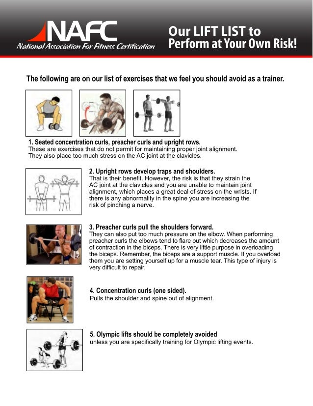 Weight Training Lift Risks