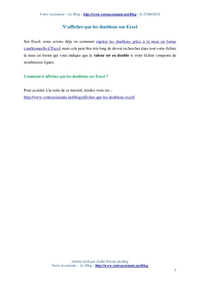 Votre Assistante – Le Blog : http://www.votreassistante.net/blog - le 25/06/2014 Article écrit par Lydia Provin du blog Vo...