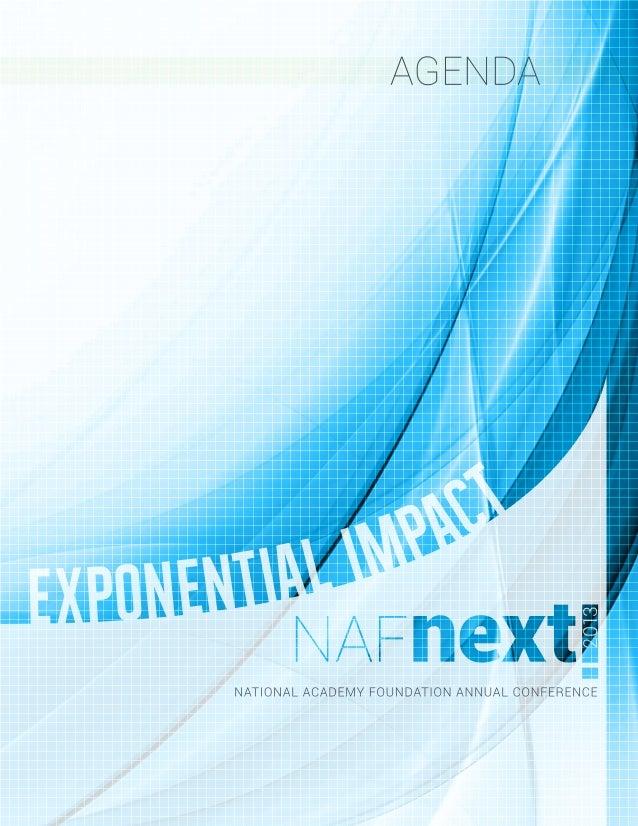 NAF Next 2013 Program Book