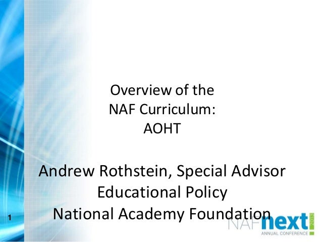 College and Career Readiness through the NAF AOHT Curriculum