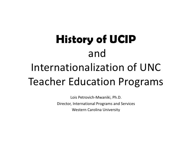 Nafsa intl teacher ed & history of ucip