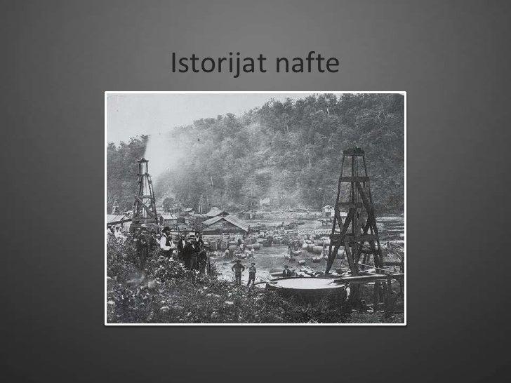 Istorijat nafte
