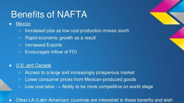 an analysis of the united states and the expansion of nafta Immigration trends after 20 years of nafta mainly due to the expansion of push wages up and reduce the pressure to emigrate to the united states as nafta.