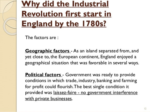 why industrial revolution began in britain