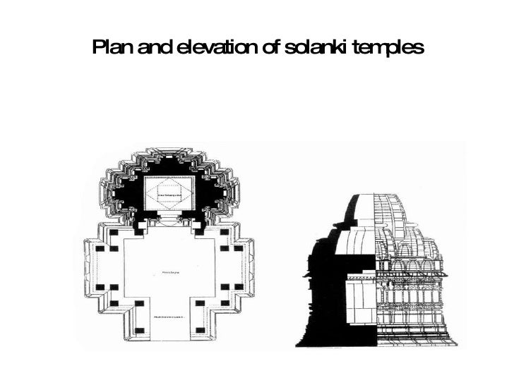 Plan and elevation of solanki temples 14 details of elements