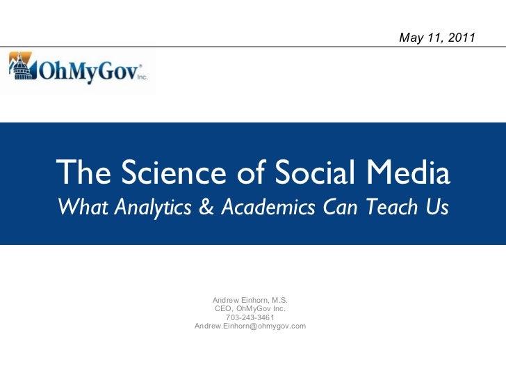 Social Media Analysis for Government, NAGC 2011