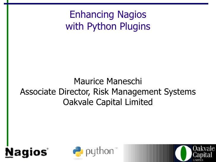 Writing Nagios Plugins in Python