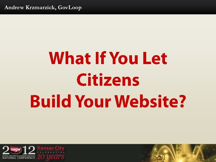What If You Let Citizens Build Your Website?