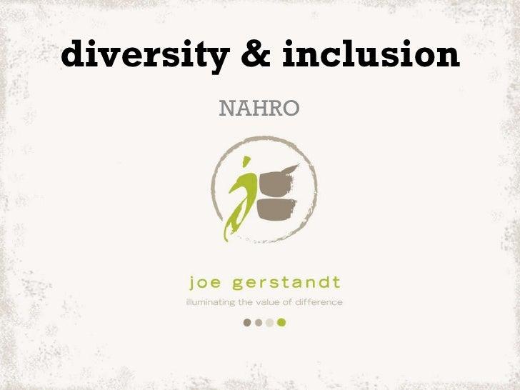 diversity & inclusion NAHRO
