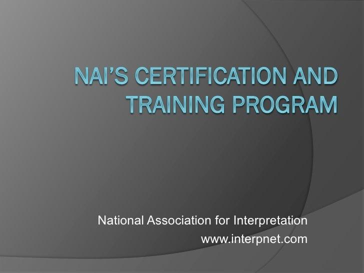 Intensivdagarna Nai certification lisa brochu