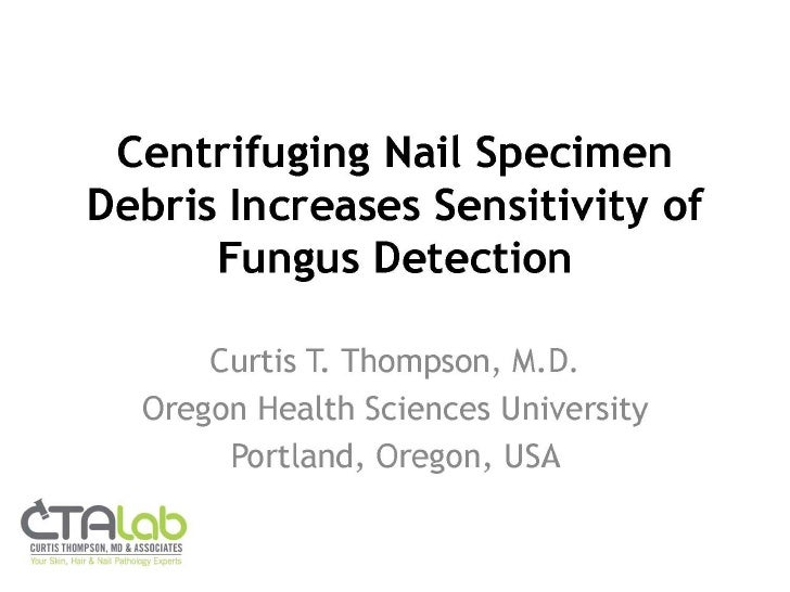 C. Thompson - Nail Fungus Detection