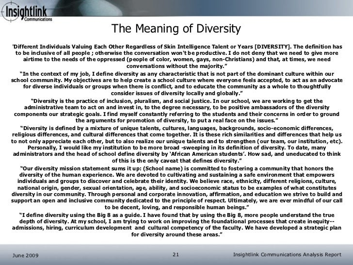 a summary of the article in search of diversity A quick look at diversity facts from around the world.