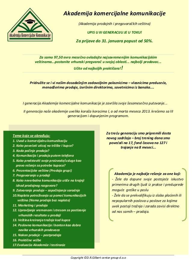 Upis u III generaciju Akademije komercijalne komunikacije