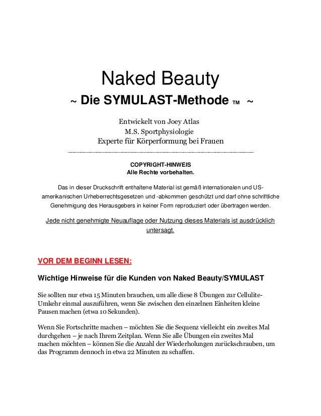Naked Beauty ~ Die SYMULAST-Methode TM ~ Entwickelt von Joey Atlas M.S. Sportphysiologie Experte für Körperformung bei Fra...