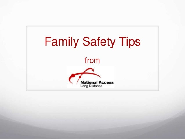 Family Safety Tips from