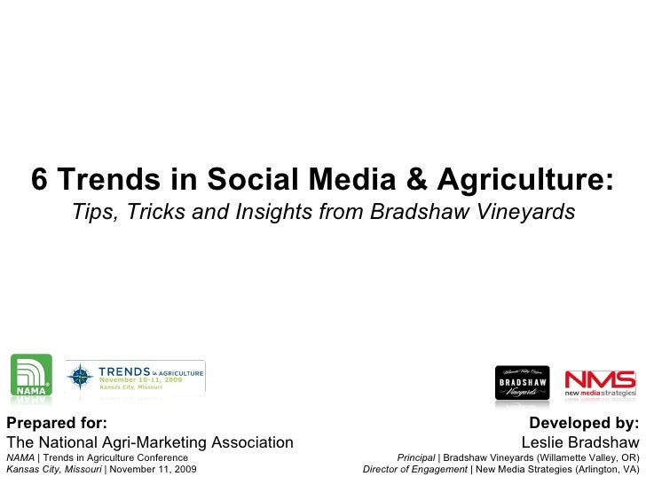 Trends in Social Media & Agriculture