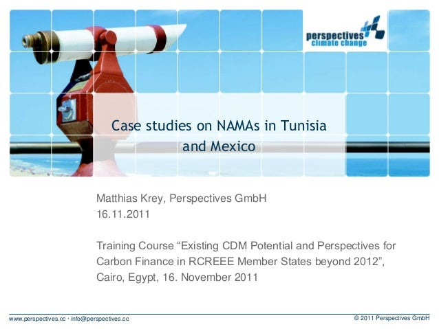 Case studies on NAMAs in tunisia and mexico