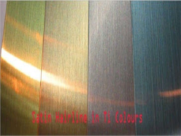 Decorative stainless steel cladding application