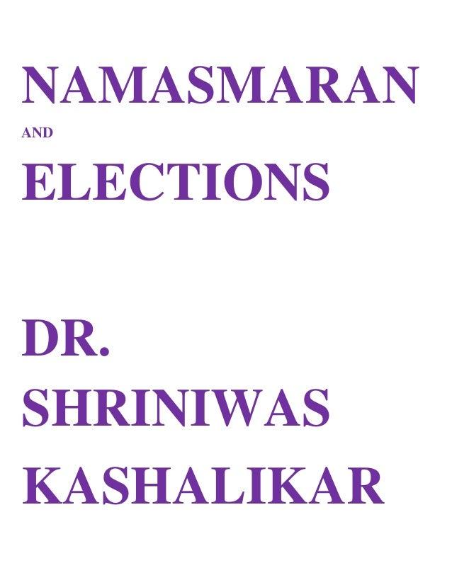 Namasmaran and elections