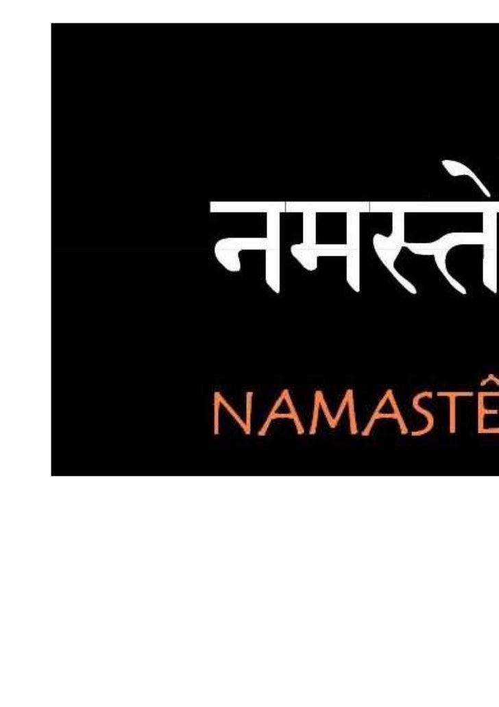 A você,Namastê